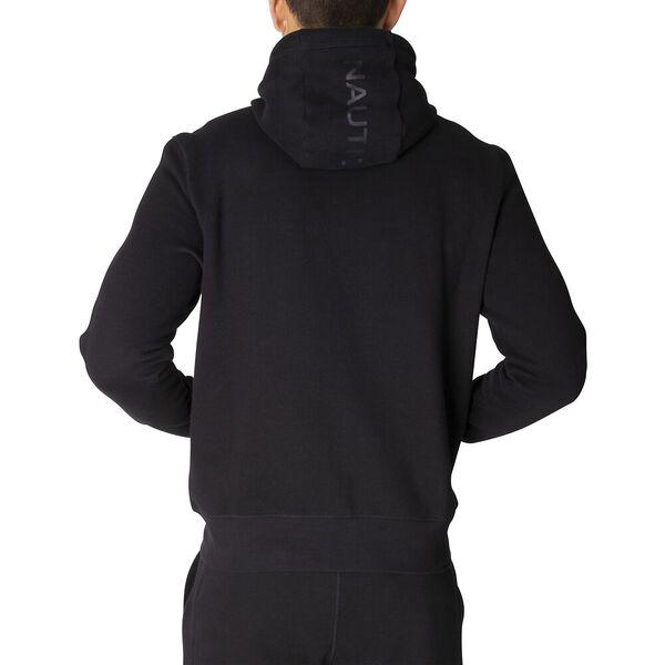 Nautica Unisex Logo Taping Full Zip Hoodie, True Black, hi-res