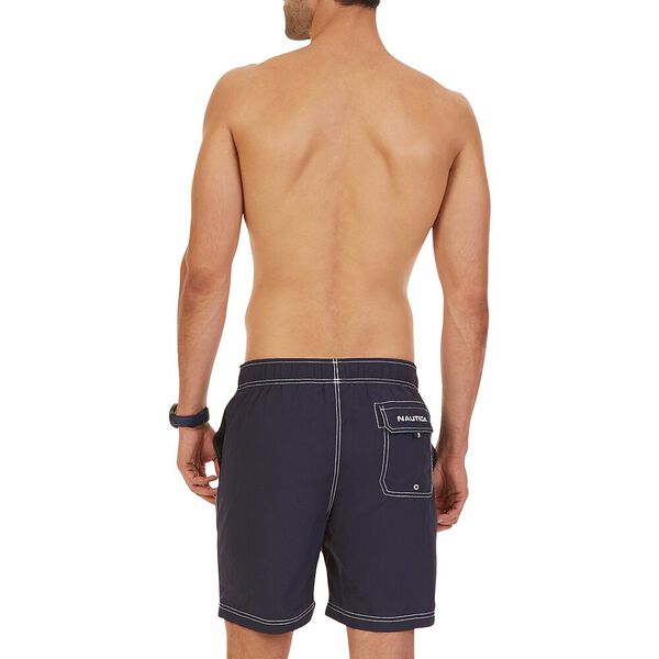 """Big & Tall 8"""" J Class Signature Swim Shorts, Navy, hi-res"""