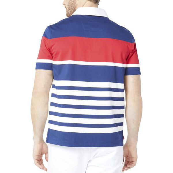 Classic Fit Jeans Co. Engineered Gradient Stripe Polo, J Navy, hi-res
