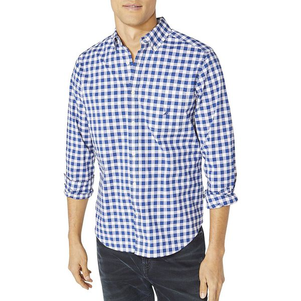 Classic Fit Long Sleeve Check Shirt, Limoges, hi-res