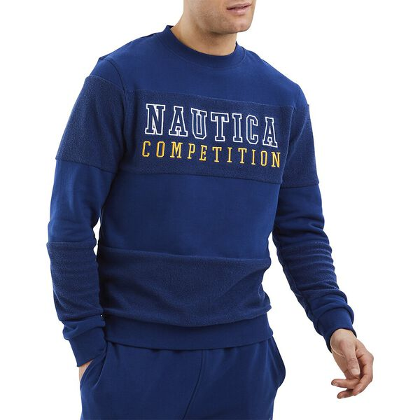 Nautica Competition Headstick Sweater, Navy, hi-res