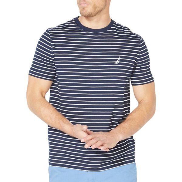 Striped Jersey Tee, Navy, hi-res