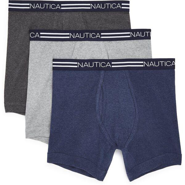 Nautica Mens 3 Pack Cotton Boxer Brief