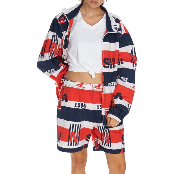Reissue 1996 Spell It Out Colour Block Sailing Bomber Jacket, Mars Red, hi-res