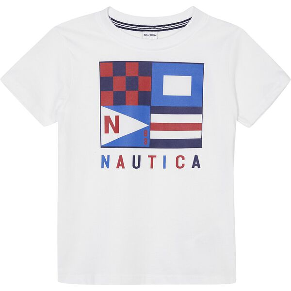 Boys 3 -7 Hector Graphic Tee, White, hi-res