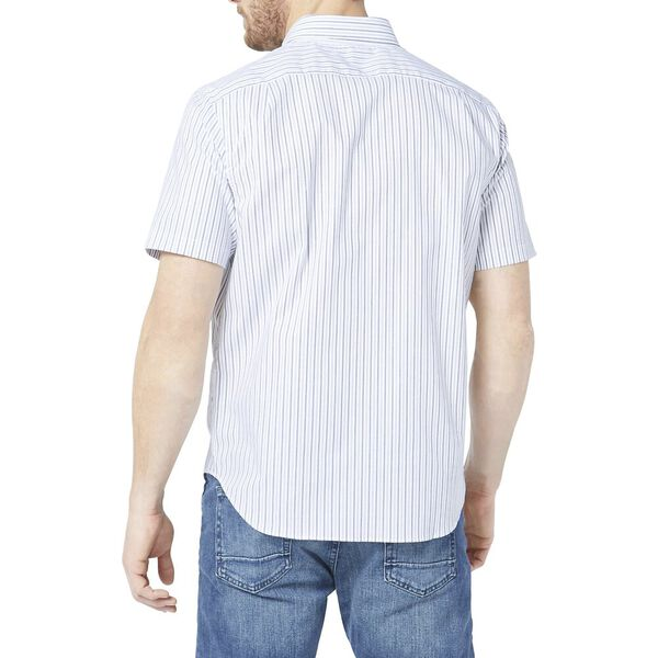 Classic Fit Wrinkle Resistant Striped Shirt Navy, J Navy, hi-res