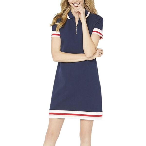 Laura Polo Dress, Navy Seas, hi-res
