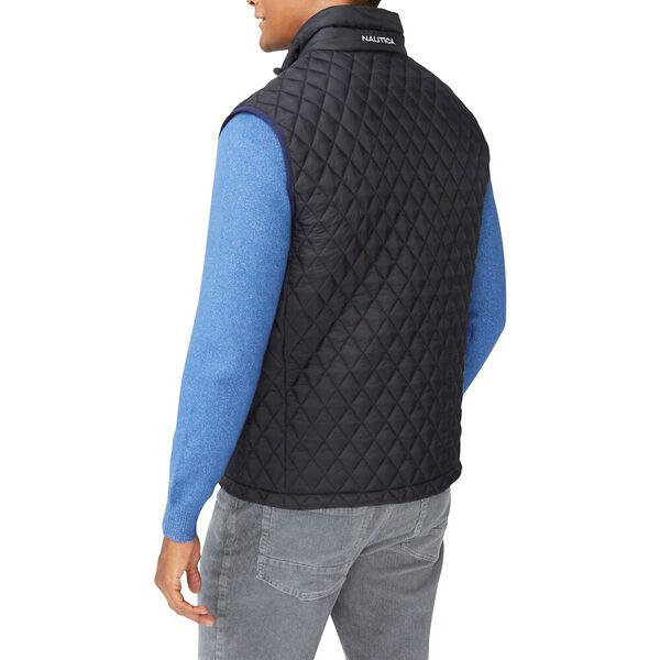 Tempashere Diamond Quilt Vest, True Black, hi-res