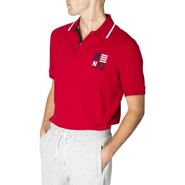 Classic Fit N83 Varisty Polo, Nautica Red, hi-res