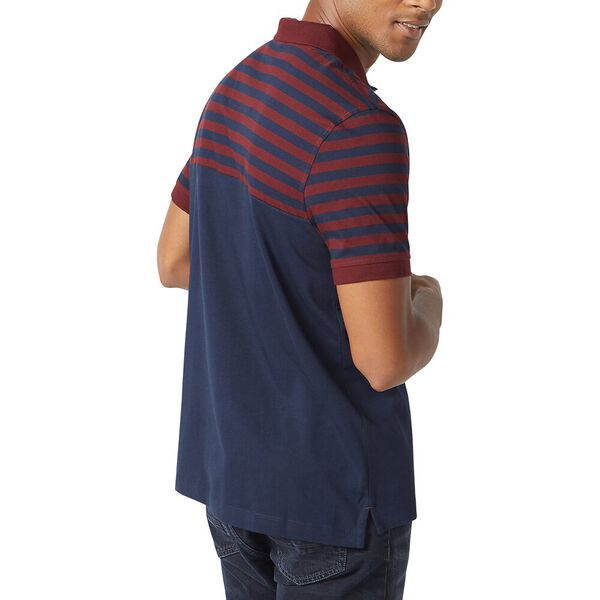 Stripe Top Nautica Polo, Royal Burgundy, hi-res