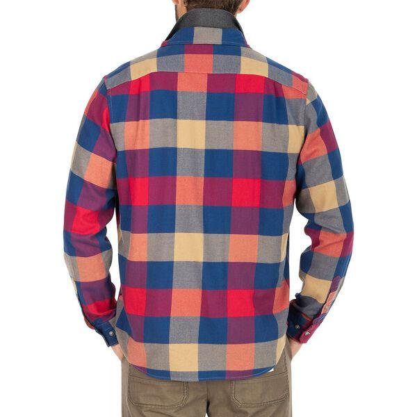 Nautica Plaid Flannel Shirt, Nautica Red, hi-res