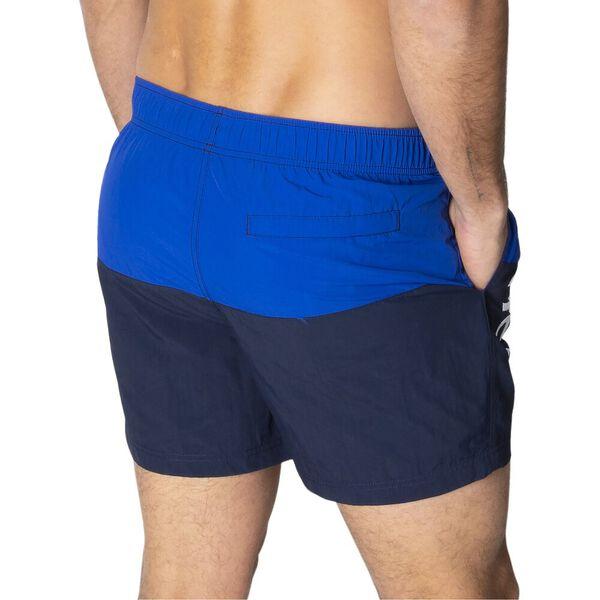 "16"" Logo Pieced Quick-Dry Swim Shorts, Bright Cobalt Blue, hi-res"