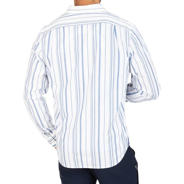 Navtech Dual Pyjama Stripe Shirt, Bright White, hi-res