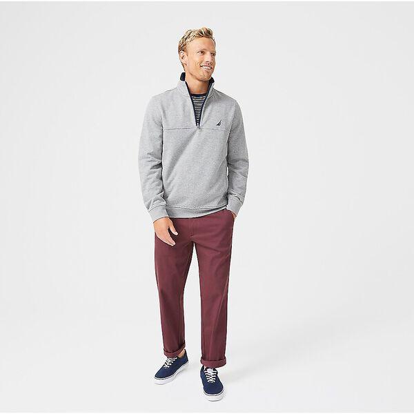 J. Class Pieced Quarter Zip Sweater, Stone Grey Heather, hi-res