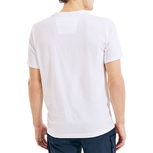 Competition Taped Stripe Tee, White, hi-res