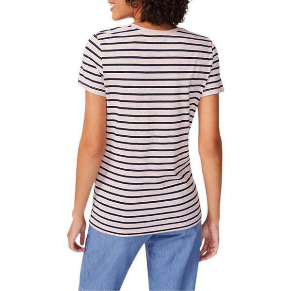 Stripe it Up Crew-Neck Tee, Sepia Rose, hi-res