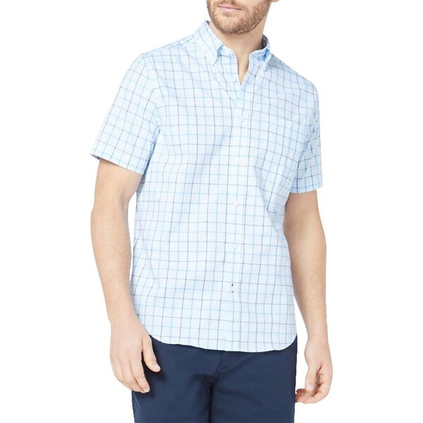 Classic Fit Wrinkle Resistant Plaid Short Sleeve Shirt