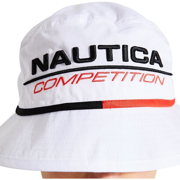 Nautica Competition Rogers Bucket Hat, White, hi-res