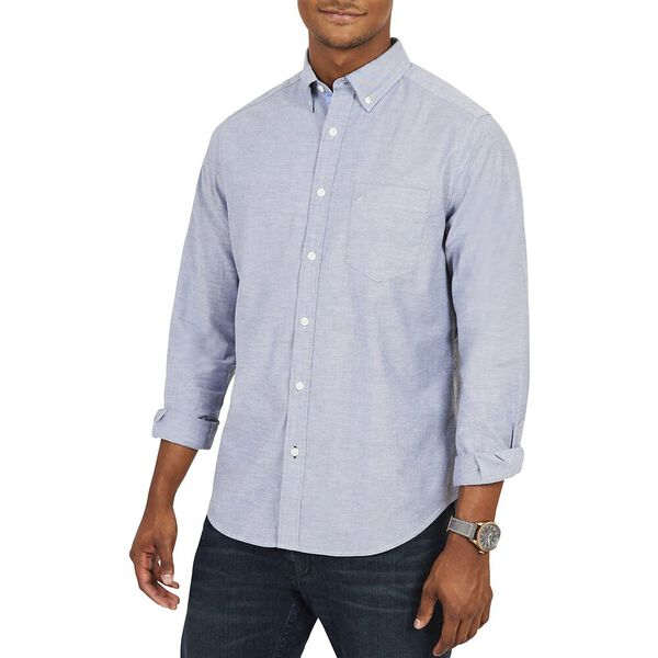 Classic Fit Wrinkle Resistant Navtech Stretch Oxford Shirt, Light French Blue, hi-res
