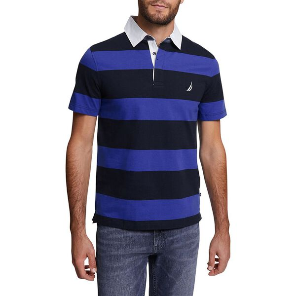 BIG & TALL YARN DYED STRIPE POLO