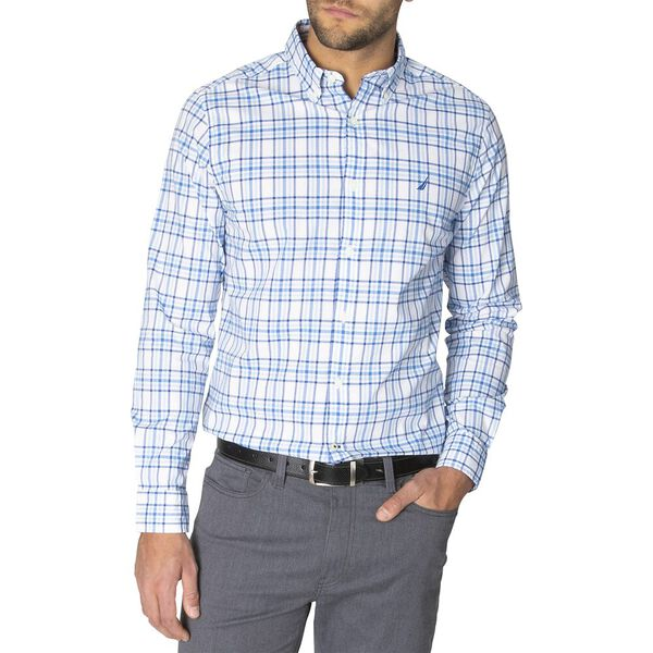 Slim Fit Navtech Blue Shadow Long Sleeve Checked Shirt