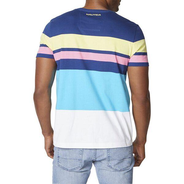Engineered Stripe Tee, Estate Blue, hi-res