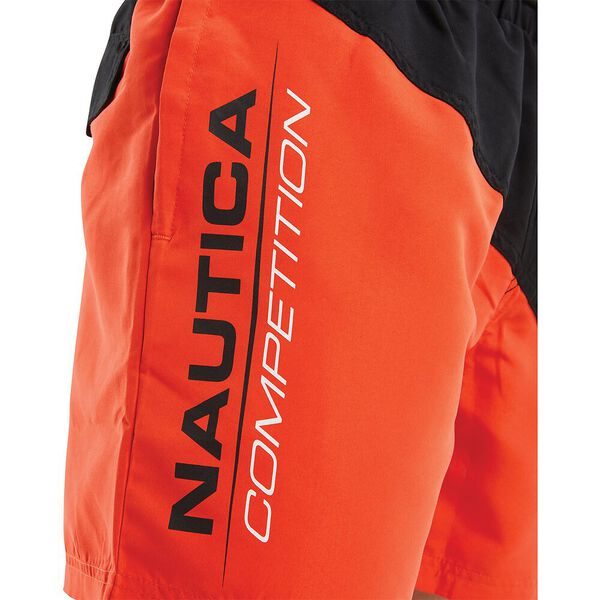 Nautica Competition Gunnage Swim Shorts, Red, hi-res