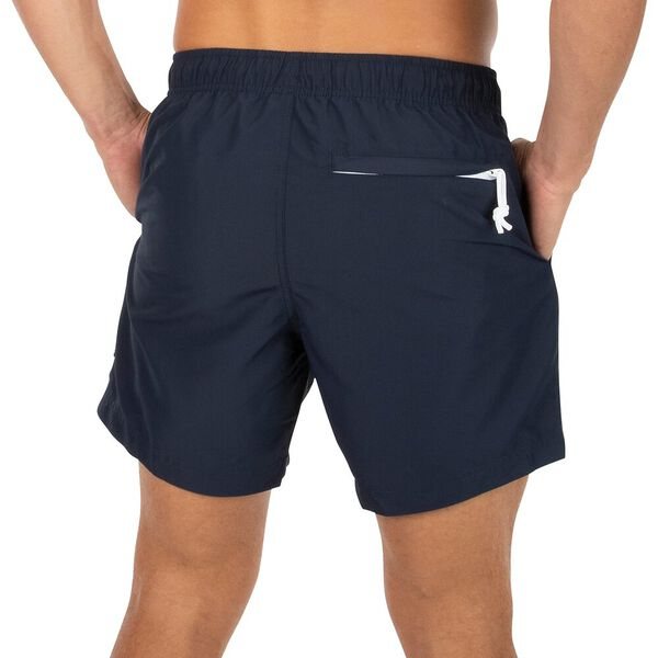 Sustainably Crafted Packable Swim Shorts, Navy, hi-res