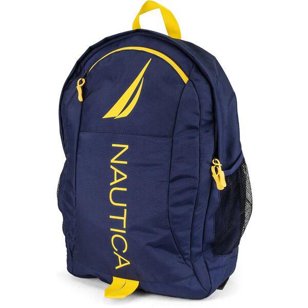 Panelled Bright Logo Backpack, Zest, hi-res