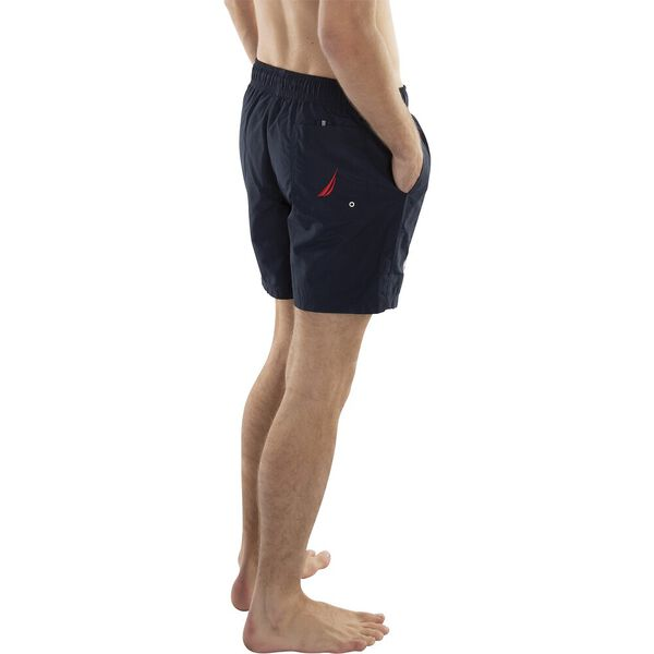 NAUTICA EMBRIODERED LOGO QUICK-DRY SWIM SHORT, NAVY, hi-res