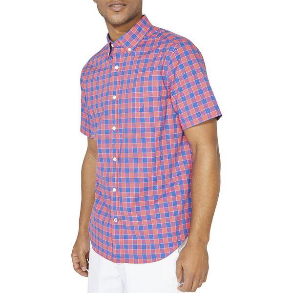 Classic Fit Plaid Poplin Short Sleeve Shirt
