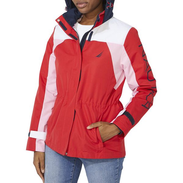 Tri Colour Block J. Class Jacket, Bright Red, hi-res
