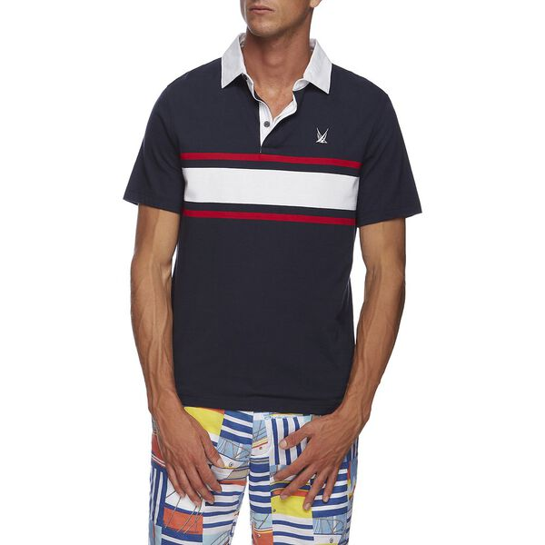 BLUE SAIL CHEST STRIPE SHIPMAN POLO