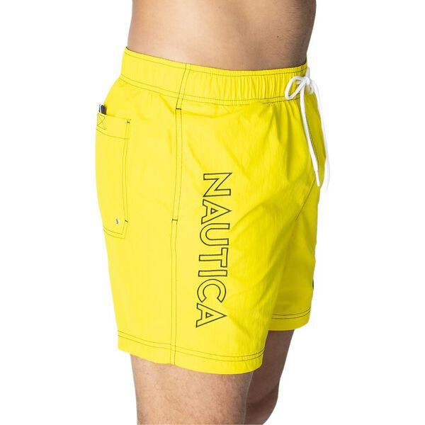 "16"" Logo Solid Quick-Dry Swims, Blazing Yellow, hi-res"