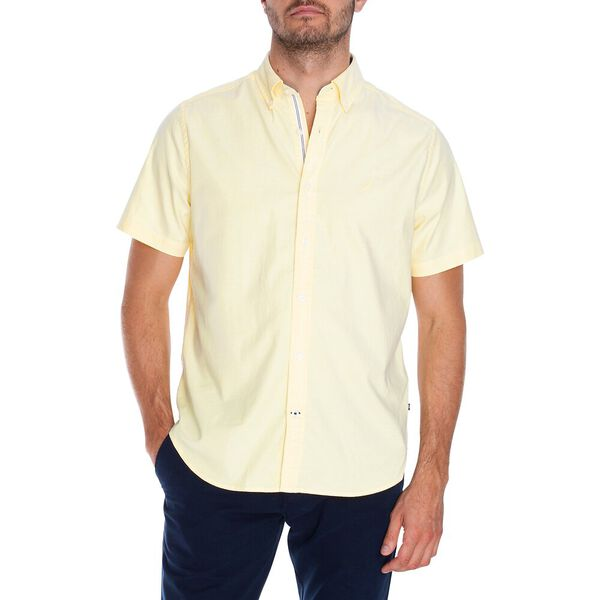 Classic Fit Blue Sail Short Sleeve Solid Oxford Shirt, Sunshine, hi-res