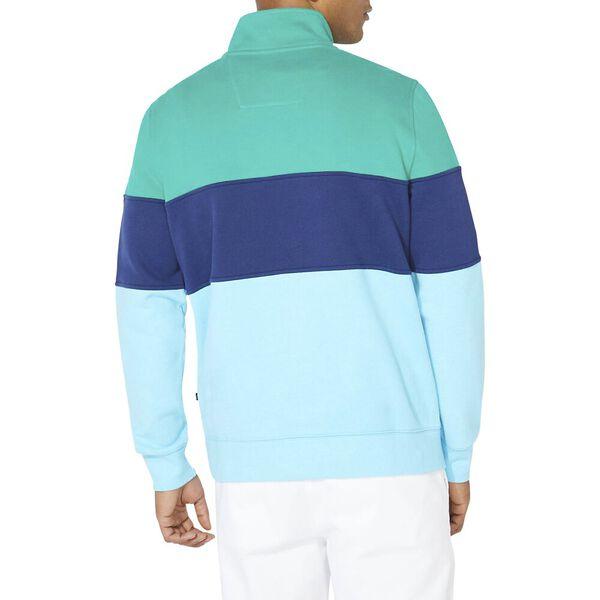Heritage Blocked 1/4 Zip Pullover Sweater, Pepper Green, hi-res