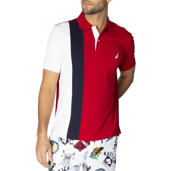 Classic Fit J. Class Bold Colourblock Polo, Naut Red, hi-res