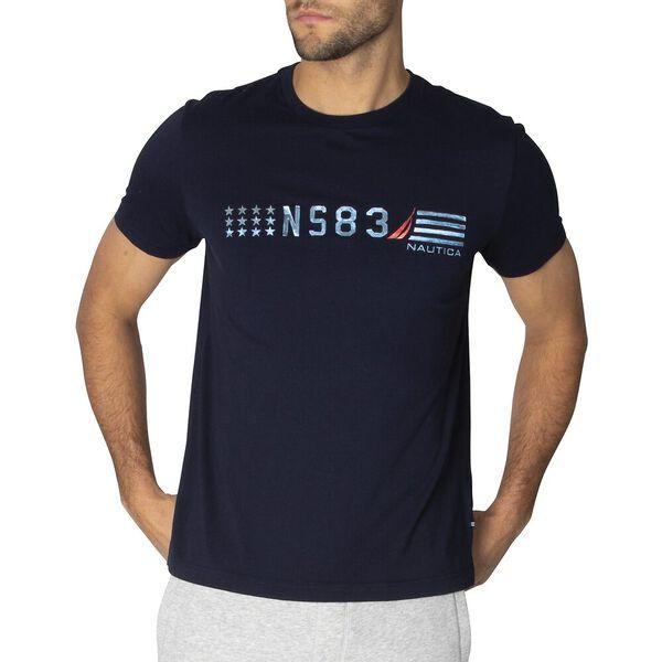 Reflection NS83 Short Sleeve Tee, Navy, hi-res
