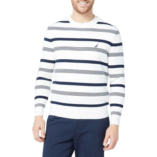 Navtech Repeat Stripe Performance Crew, Marshmallow, hi-res