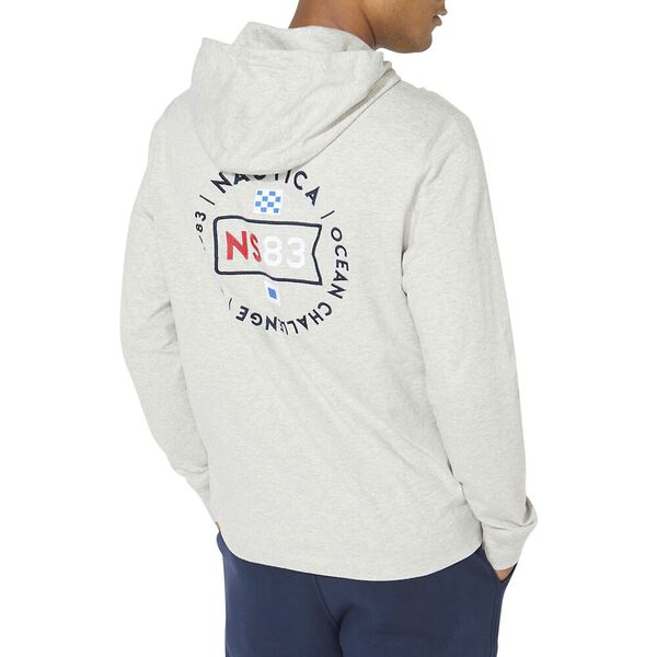 Graphic Pullover T-Shirt Hoodie, Grey Heather, hi-res