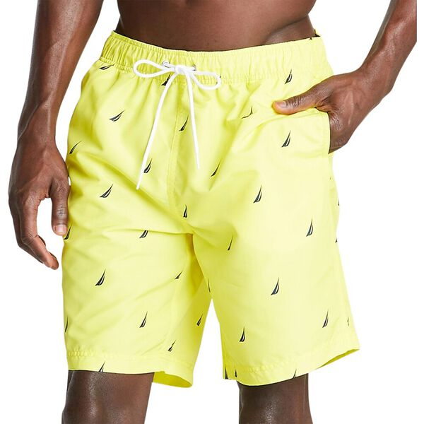 "18"" All Over Printed J-Class Swim Trunks, Blazing Yellow, hi-res"