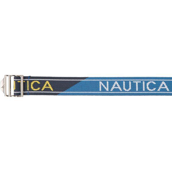 Nautica Colourblock Webbing Belt, Blue, hi-res