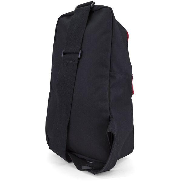 Nautica Racer Logo Sling Bag, Black, hi-res