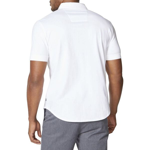Classic Fit Jersey Short Sleeve Shirt, Bright White, hi-res