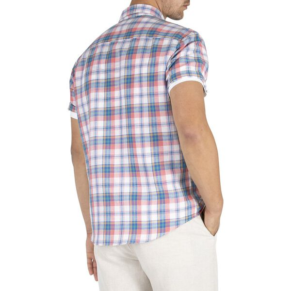 Madras Linen Shirt, Bright White, hi-res