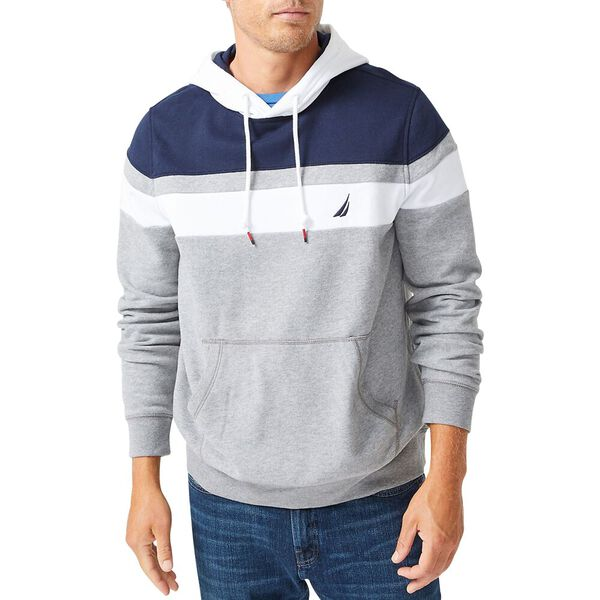 Slim Fit Colourblock Pullover Hoodie