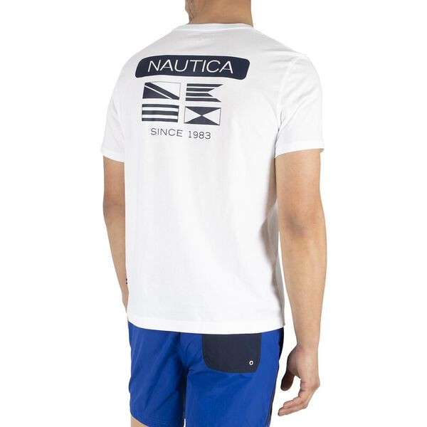 Stand The Flags Tee, Bright White, hi-res