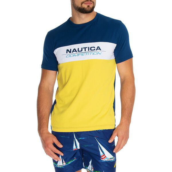 Nautica Competition Tri-Colour Tee, Estate Blue, hi-res