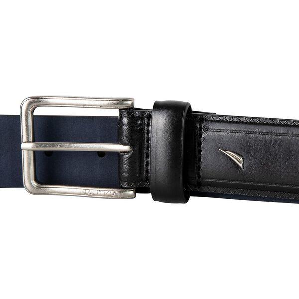 Nautica Cross-Hatch Business Belt, Black, hi-res