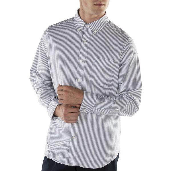 Wrinkle Resistant Cotton Stretch Oxford Shirt, Blue Depths, hi-res